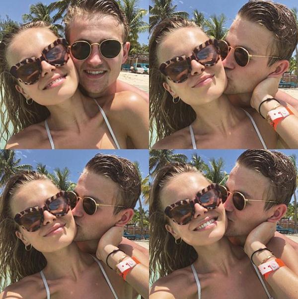 Trên trang cá nhân, cả hai đều chia sẻ ảnh trong kỳ nghỉ ở Bahamas