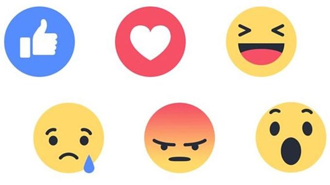 Like đã phát triển thành 6 trạng thái cảm xúc khác nhau.