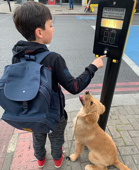Huxley đi cùng cậu chú Maxx tới trường mỗi ngày. Ảnh: Kenedy News.