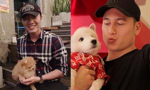 Xuân Trường chơi đùa cùng cún cưng của Văn Lâm và bạn gái