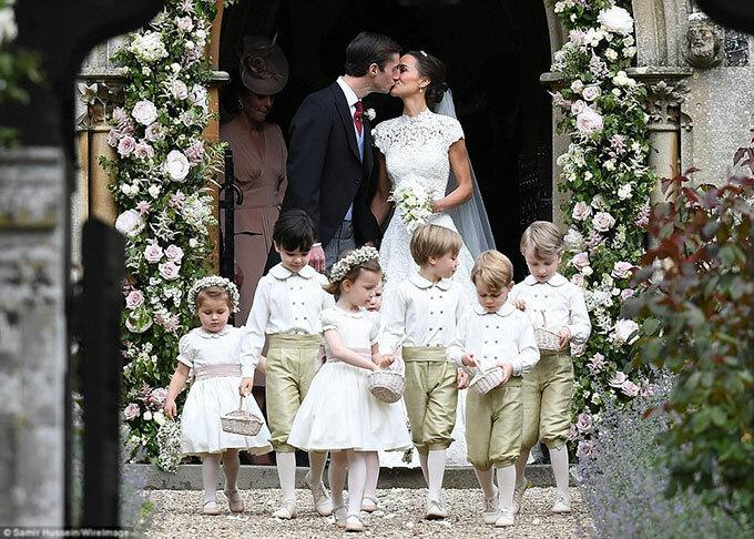 Đám cưới của Pippa Middleton và đại gia tài chính James Matthews hồi tháng 5/2017. Ảnh: WireImage.