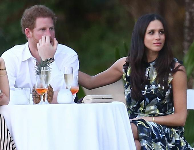 Harry và Meghan dự đám cưới một người bạn ở Jamaica, một tuần trước khi đến đám cưới của Pippa năm 2017. Ảnh: UK Press.