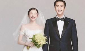 Váy cưới 'cổ tích' của ngôi sao phim Tây Du Ký