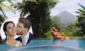 Ramos nhắn nhủ vợ: 'Bên em ngày nào cũng là trăng mật'