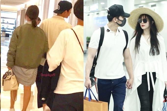 Hai cặp đôi thường xuyên dành cho nhau cử chỉ thân mật khi cùng đi sự kiện hoặc hẹn hò riêng tư.