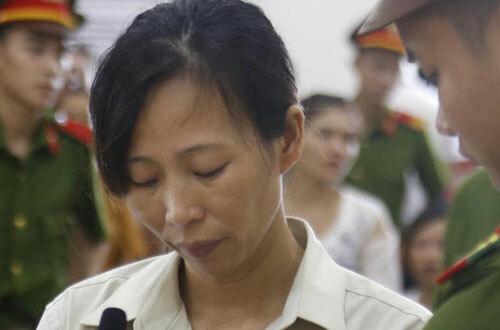Bị cáo Thêm tại phiên tòa sơ thẩm. Ảnh: Báo Bắc Giang.