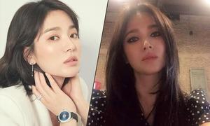 Song Hye Kyo nối tóc, thay đổi phong cách trang điểm hậu ly hôn