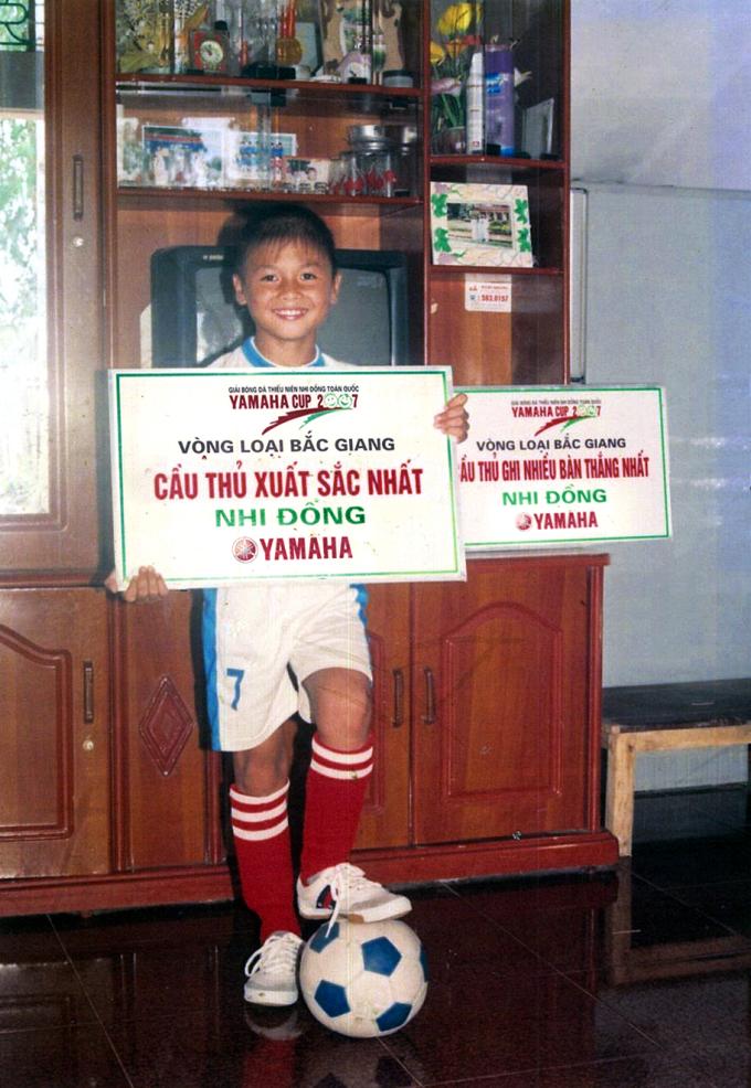 Quang Hải - Cầu thủ xuất sắc nhất của Giải bóng đá thiếu niên - nhi đồng toàn quốc Yamaha Cup mùa giải 2007, 2008 và 2010 với sự đồng hành của Yamaha Motor Việt Nam.
