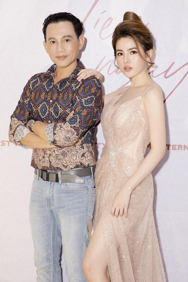 Diễn viên Hữu Tiến và con gái Thủy Tiên.