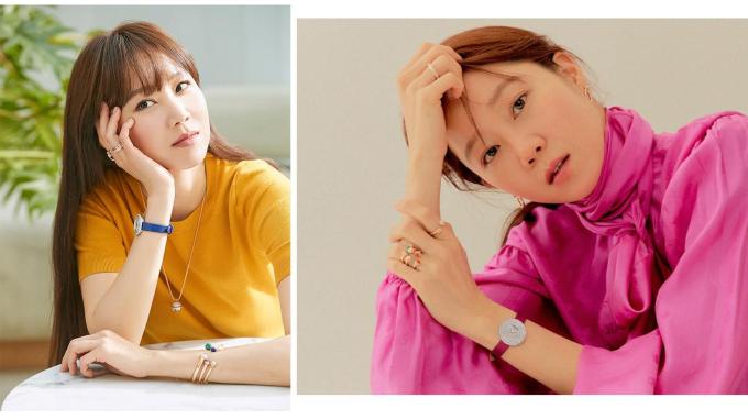 Gong Hyo-jin đeo BST Possession mới với đồng hồ nạm đính hoàn toàn bằng kim cương.