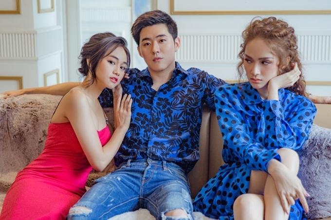 Trong MV, Hương Giang (phải) mang đến hình ảnh cá tính, có mối tình đẹp nhưng luôn bị làm phiền bởi cô bạn thân của người yêu.