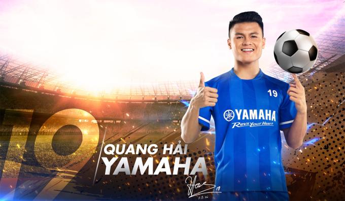 Quang Hải chính thức trở thành đại sứ thương hiệu của Yamaha.