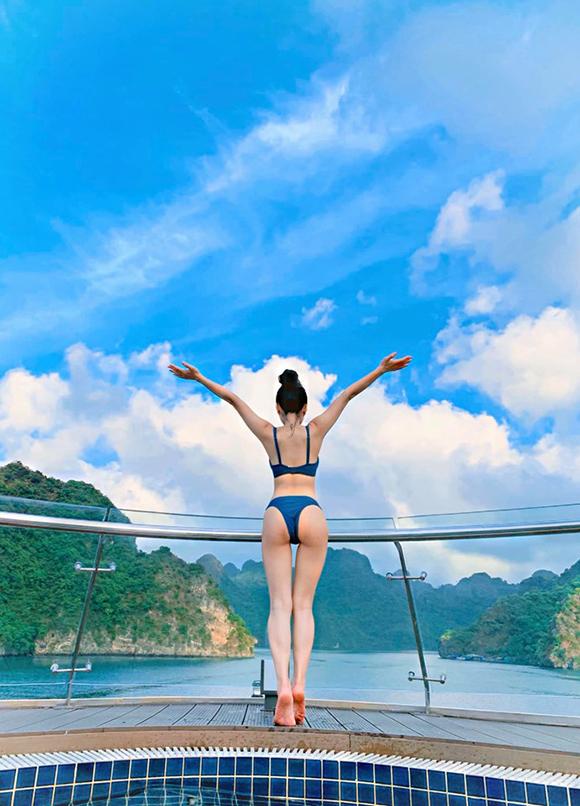 Ca nương Kiều Anh khoe dáng gái một con với bikini - 3