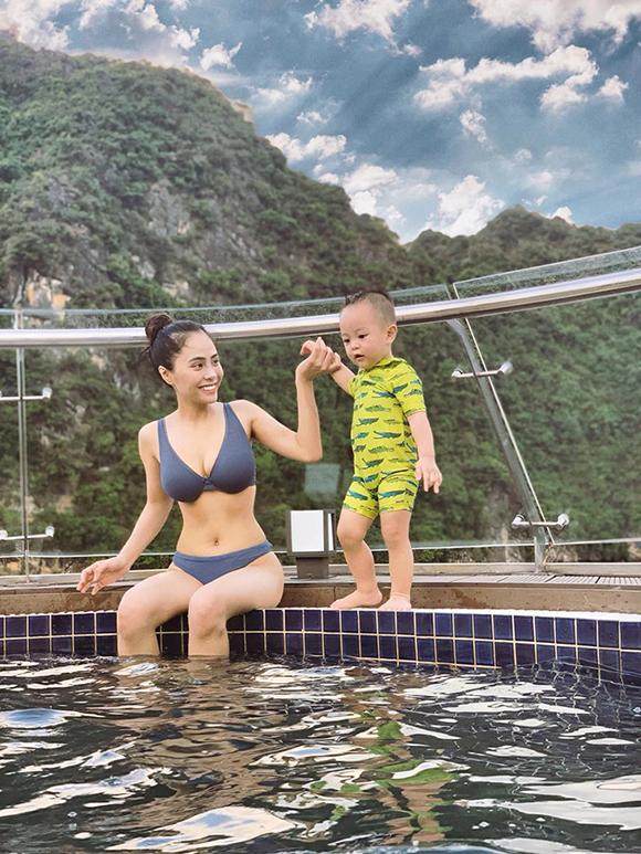Ca nương Kiều Anh khoe dáng gái một con với bikini - 4