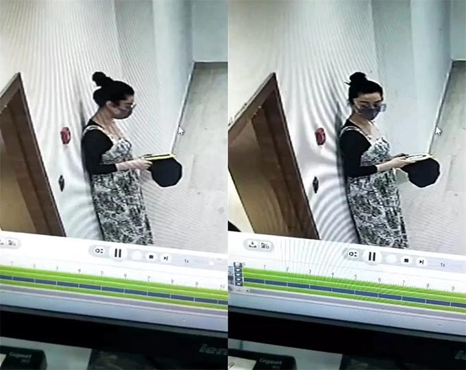 Hình ảnh người phụ nữ mang bầu được cho là Phạm Băng Băng.
