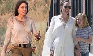 Angelina Jolie dịu dàng bên con, dữ dội trên phim trường