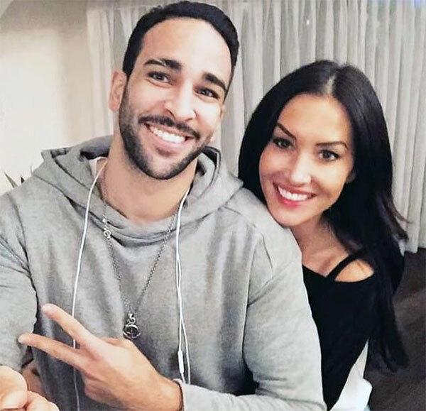 Adil Rami và tình cũ Sidonie Biemont.
