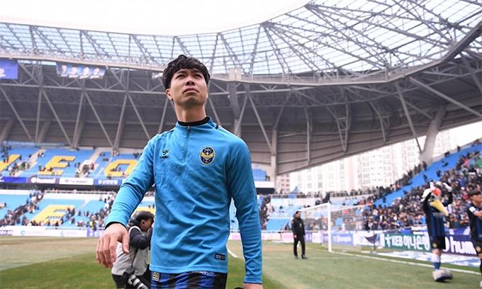 Công Phượng không thành công tại Incheon United và phải chia tay đội bóng này sau 4 tháng. Ảnh: IU.