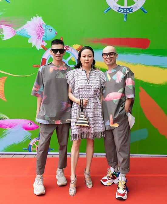 Hai thiết kế Vũ Ngọc & Son và doanh nhân Phượng Chanel.