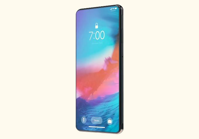 Các nhà thiết kế tại Concept Creator tạo ra bản dựng của iPhone Pro với màn hình tràn viền. Tai thỏ được loại bỏ nhờ phần camera selfie của máy đặt ngay dưới màn hình.