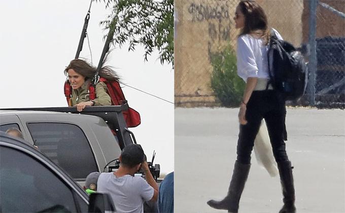 Sau mỗi buổi quay phim, Jolie lại nhanh chóng khoác ba lô về nhà thăm con.