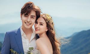 Ảnh cưới của Thu Thủy với bạn trai kém 10 tuổi