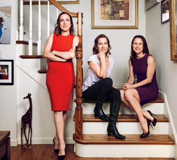 Từ trái qua: Janet, Susan và Anne Wojcicki. Ảnh:TIME.