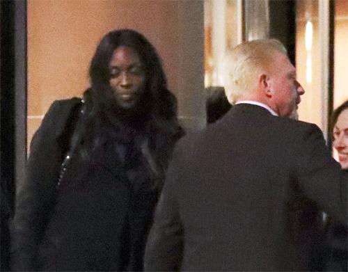 Boris Becker và Layla Powell bị bắt gặp đi ăn tối tại một nhà hàng ở London