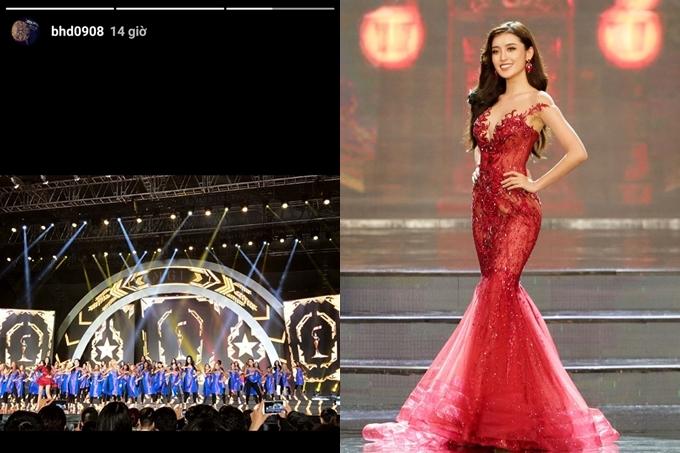 Sau khi chia tay Tú Anh, Dương Bảo Hưng vướng tin đồn hẹn hò Á hậu Huyền My khi có mặt Phú Quốc cổ vũ người đẹp thi Miss Grand 2017.