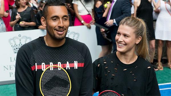 Nick Kyrgios và Eugenie Bouchard từng đánh cặp tại Mỹ mở rộng 2015 và tập luyện cùng nhau trước thềm Wimbledon