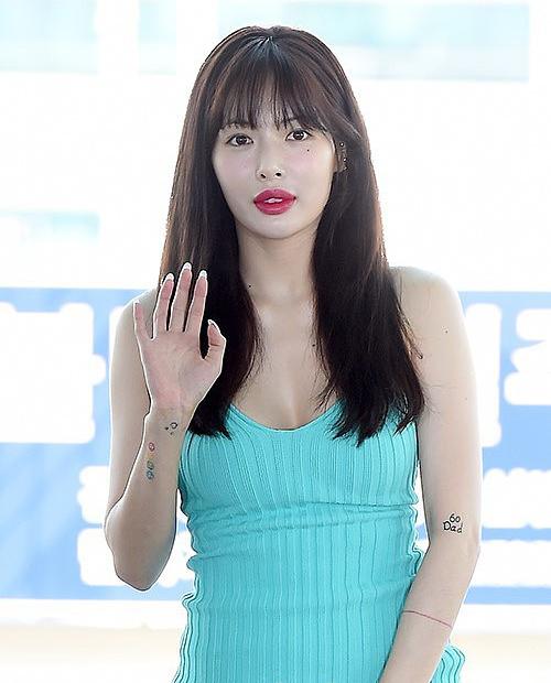 HyunA tại sân bay sáng 5/7.