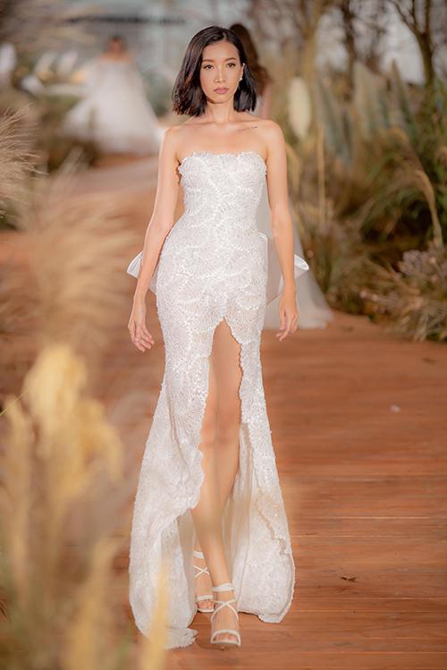 Váy cưới hiện đại cho cô dâu mùa hè thu - 9
