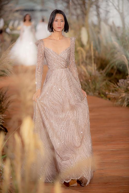 Váy cưới hiện đại cho cô dâu mùa hè thu - 12