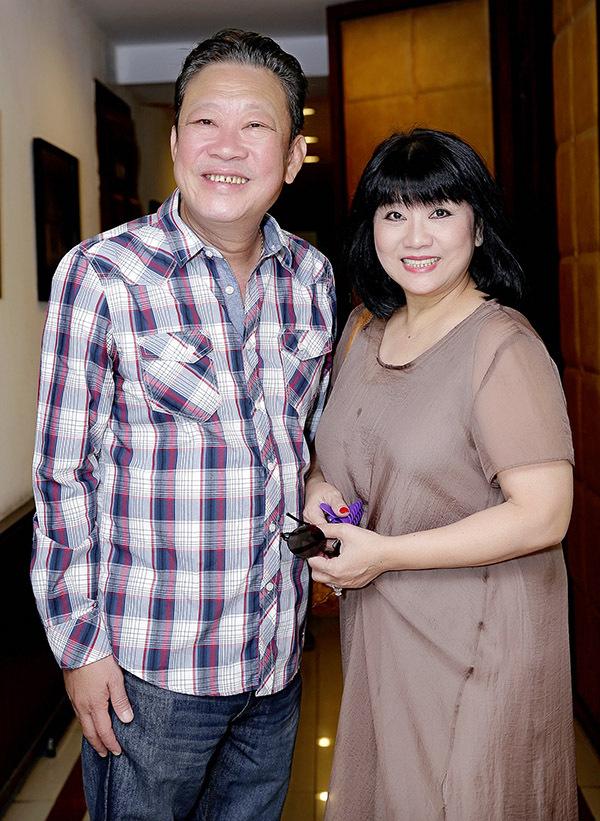 Ca sĩ Cẩm Vân và nhạc sĩ Lê Quang.