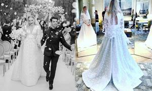 Váy cưới đính hàng chục nghìn viên pha lê của cô dâu Joe Jonas