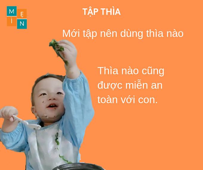 Mẹ 9X giải đáp 9 câu hỏi thường gặp về cách tập cho bé dùng thìa - 7