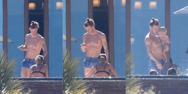 Bale và vợ con trong kỳ nghỉ