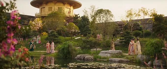 Cảnh sắc đẹp đẽ của phim.