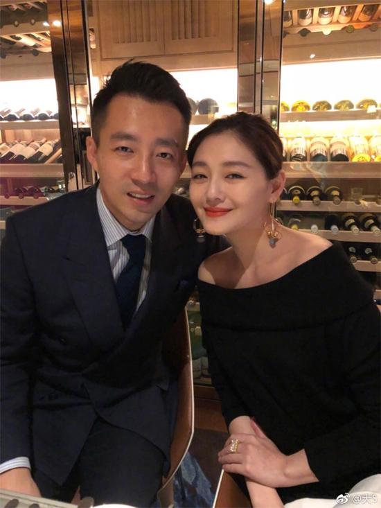Diễn viên Từ Hy Viên và chồng.