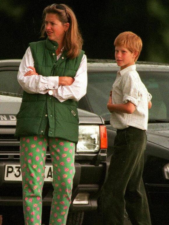 Tiggy và Harry năm hoàng tử 12 tuổi. Ảnh: UK Press.