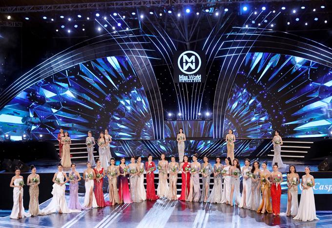 Top 20Miss World Vietnam 2019 tại vòng chung khảo phía Bắc.