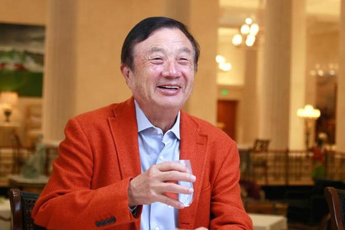 Ông Ren Zhengfei xuất hiện trước truyền thông vào tuần trước. Ảnh: Huawei.