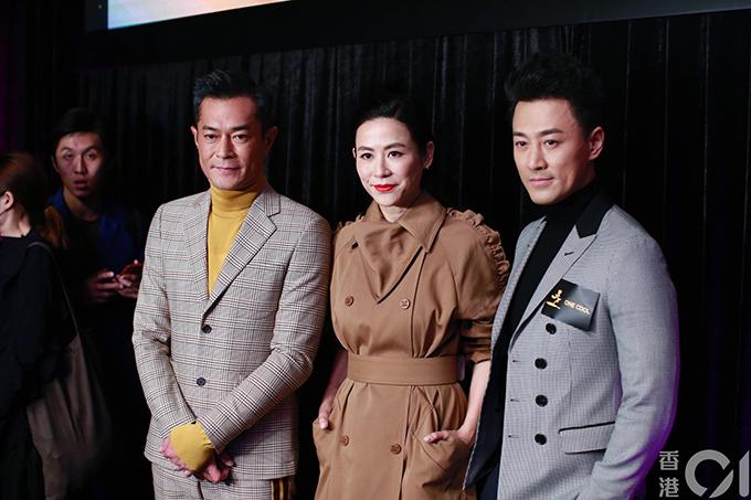Cổ Thiên Lạc cùng Tuyên Huyên và Lâm Phong giới thiệu dự án điện ảnh Cỗ máy thời gian tại Hội chợ phim Hong Kong hồi tháng 3.