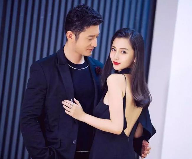 Vợ chồng Huỳnh Hiểu Minh.