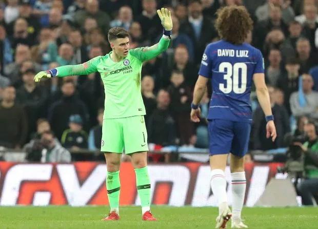 Kepa Arrizabalaga kháng lệnh thay người của HLV Sarri trong trận chung kết Carabao Cup với Man City hồi tháng hai.