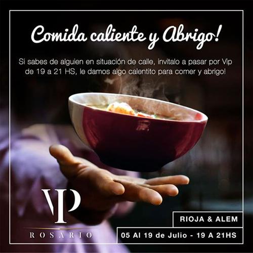 Thông báo về chương trình từ thiện của nhà hàng VIP.