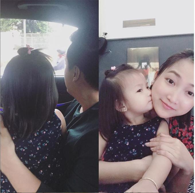 Yến Phương - bà xã Lam Trường - chia sẻ về tình yêu dành cho con gái: Chỉ có thể là tình yêu. Cả đời haiđứa chưa yêu ai nhiều như yêu con bé này. Thiệt sự.