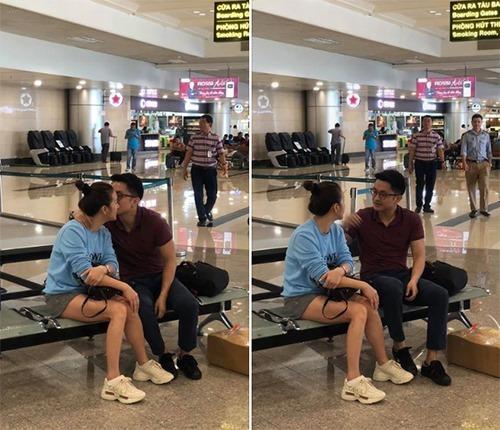 Hoa hậu Thu Hoài hạnh phúc khi được bạn trai quan tâm.