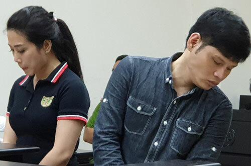 Long Ma và Thủy tại phiên tòa phúc thẩm.