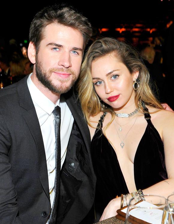Miley bên ông xã Liam Hemsworth.